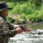 fisherman, river, fishing